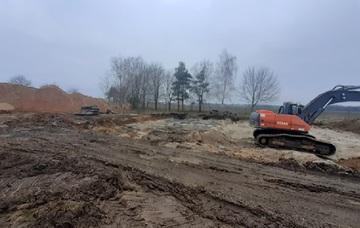 Galeria Przygotowanie terenu pod budowę budynku gospodarki osadowej